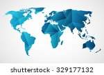 triangular world map design ... | Shutterstock .eps vector #329177132