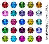 set of gemstone icons. bright... | Shutterstock .eps vector #329186972