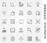 physics icons set   vector line ... | Shutterstock .eps vector #329206868