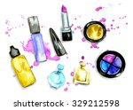 the set of cosmetics....   Shutterstock . vector #329212598