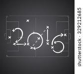 soccer strategy plan 2016 | Shutterstock .eps vector #329212685