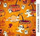 halloween seamless background... | Shutterstock .eps vector #329220302