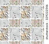 patchwork seamless pattern... | Shutterstock . vector #329222546