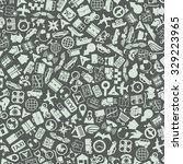 vector background of the flat... | Shutterstock .eps vector #329223965