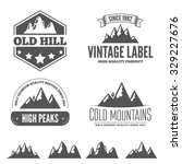 retro vintage insignias set ... | Shutterstock .eps vector #329227676