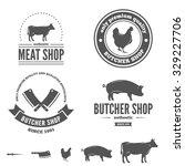 retro vintage insignias set ... | Shutterstock .eps vector #329227706