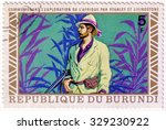 Small photo of Republic of Burundi - CIRCA 1970s: A stamp printed in Burundi shows David Livingstone, circa 1970s