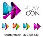 set of abstract next play arrow ... | Shutterstock .eps vector #329236532