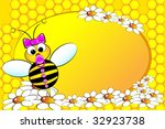 bee family   baby girl with... | Shutterstock .eps vector #32923738
