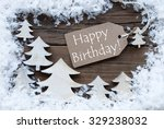 brown christmas label with... | Shutterstock . vector #329238032