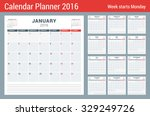 calendar planner for 2016 year. ... | Shutterstock .eps vector #329249726