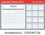 Calendar Planner For 2016 Year...