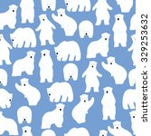 polar bear pattern. seamless... | Shutterstock .eps vector #329253632