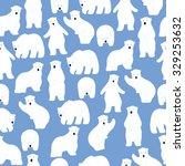 polar bear pattern. seamless... | Shutterstock .eps vector #329253632