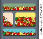 fruit pattern cards set.... | Shutterstock . vector #329260376