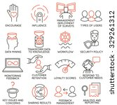 vector set of 16 icons related... | Shutterstock .eps vector #329261312