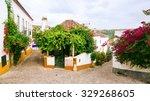 old street in obidos  portugal | Shutterstock . vector #329268605