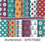 set of christmas abstract... | Shutterstock .eps vector #329275682