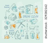 hand drawn vector set of... | Shutterstock .eps vector #329282162