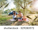 on a beautiful sunny day  a... | Shutterstock . vector #329283572