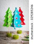 handmade colorful felt... | Shutterstock . vector #329285246