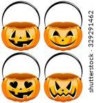 collection of halloween buckets  | Shutterstock .eps vector #329291462