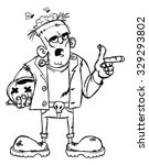 frankenstein monster cartoon... | Shutterstock .eps vector #329293802