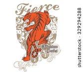 fierce tiger | Shutterstock .eps vector #329294288