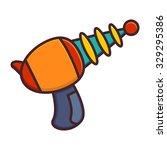 alien laser gun icon in flat... | Shutterstock .eps vector #329295386