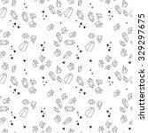 seamless hipster pattern.... | Shutterstock .eps vector #329297675