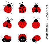 Cute Colorful Ladybugs Clipart...