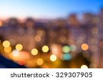 city lights in the evening... | Shutterstock . vector #329307905