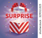 opened surprise gift box. red...   Shutterstock .eps vector #329311325