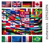 big flag background made of... | Shutterstock .eps vector #329312096