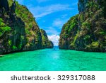 Tropical Landscape With Rock...