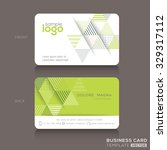 modern trendy business card... | Shutterstock .eps vector #329317112
