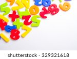 colorful plastic numbers on the ... | Shutterstock . vector #329321618
