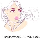 vector  stylish  original hand... | Shutterstock .eps vector #329324558