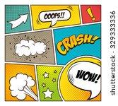 pop art comic bubbles design ... | Shutterstock .eps vector #329333336