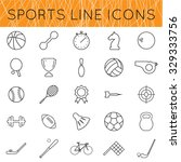 sports icons set of thin line....   Shutterstock .eps vector #329333756