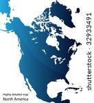 north america | Shutterstock .eps vector #32933491