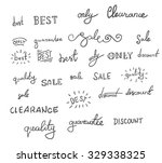 collection of sale catchwords.... | Shutterstock .eps vector #329338325
