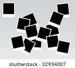 instant print photo frames on a ... | Shutterstock .eps vector #32934007