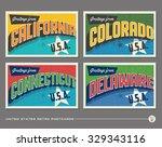 united states vintage... | Shutterstock .eps vector #329343116