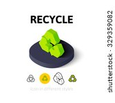 recycle icon  vector symbol in...