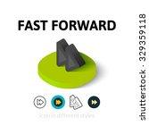 fast forward icon  vector...