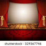 raster version. a theater stage ... | Shutterstock . vector #329367746