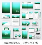 corporate identity template set.... | Shutterstock .eps vector #329371175