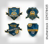 set of basketball college team... | Shutterstock .eps vector #329378435