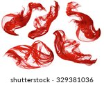 Fabric Flowing Cloth Wave  Red...